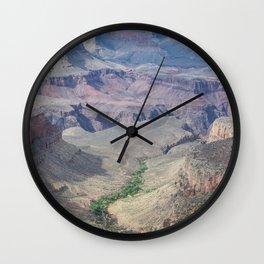 Grand Canyon path Wall Clock