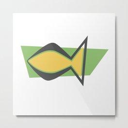 Christianity Fish - Mid Century Modern Metal Print