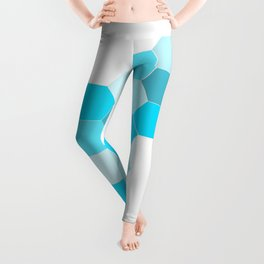 Honeycomb - Turq Leggings