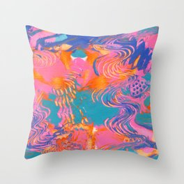 Abstract Fun Bold and Bright Throw Pillow