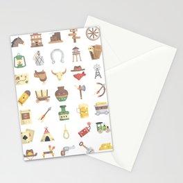 CUTE WILD WEST / COWBOY PATTERN Stationery Cards
