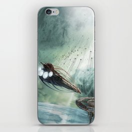 The Intrepid arrives at Carthage - Green Clouds iPhone Skin