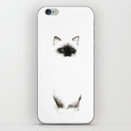 Angora Siamese Cat - png version - Chat Siamois Angora iPhone Skin