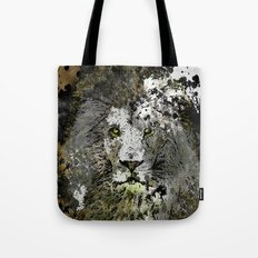 LION KING OF BEASTS ABSTRACT PORTRAIT Tote Bag