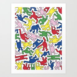Dance Doodles homage to Keith Haring Art Print