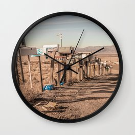 Letter boxes Wall Clock