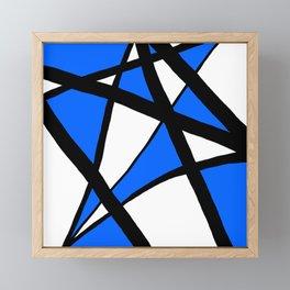 China Blue Geometric Triangle Abstract Framed Mini Art Print