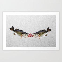 Fish Kiss - Trout Pout Art Print