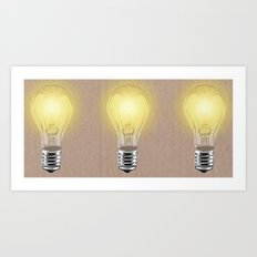 Bulbs Art Print
