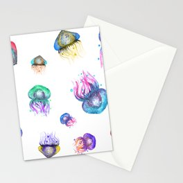 Galaxy Jellyfish Stationery Cards