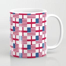 Mix of flag: Usa and england Coffee Mug