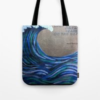 the cure Tote Bags featuring The Cure by Jeanne Hollington