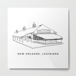 Cafe du Monde New Orleans Sketch Metal Print