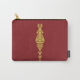 Space Queen Embroidery Carry-All Pouch