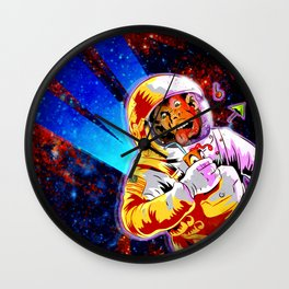 SPACE CHIMP Wall Clock