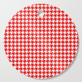 Scarlet Houndstooth Cutting Board