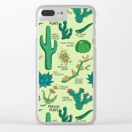 Native Desert Plants Clear iPhone Case