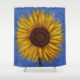 Sunflower by Lars Furtwaengler   Ink Pen   2011 Shower Curtain