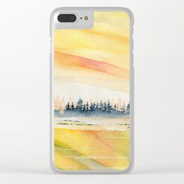 Sunset Reflections Clear iPhone Case