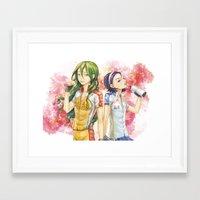 yowamushi pedal Framed Art Prints featuring Yowamushi Pedal by kongkkot