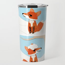 Winter Fox Sequence Travel Mug