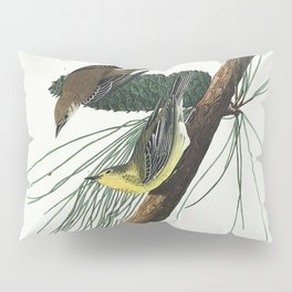 Pine Creeping Warbler from Birds of America (1827) by John James Audubon etched by William Home Liza Pillow Sham