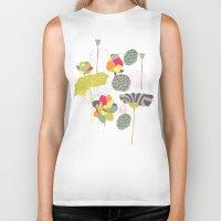 lotus flower Biker Tanks featuring Lotus by Ferntree Studio