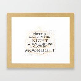 Halloween Moonlight Framed Art Print