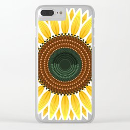 19/100: Sunflower Clear iPhone Case