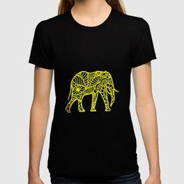 Elephant Mandala drawing colorful africa pachyderm T-shirt