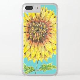 Sunflower Magic Clear iPhone Case