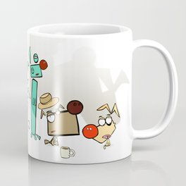 """Dialog with the dog P01 - """"Lineup"""" Coffee Mug"""