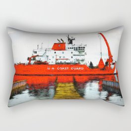 Coast Guard Cutter Mackinaw Rectangular Pillow