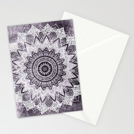 BOHOCHIC MANDALA IN PURPLE Stationery Cards