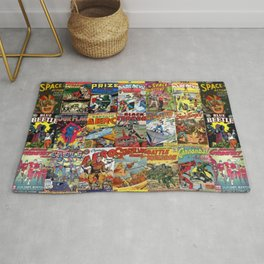 Comic Book Collage II Rug