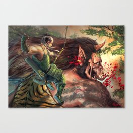Fearful Volley Canvas Print