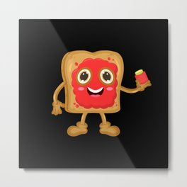 Toast With Jam Metal Print
