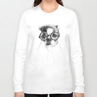 dog Long Sleeve T-shirts featuring DOG by Кaterina Кalinich