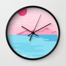 Sweetness - memphis landscape west coast socal vacation 80s style retro 1980's Wall Clock