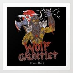 Wolf Gauntlet Art Print