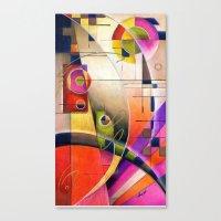 kandinsky Canvas Prints featuring Kandinsky Cadence by Alma Lee