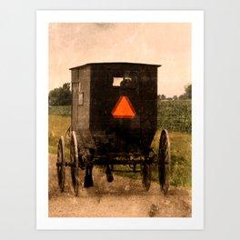 Amish Buggy Rural Country Road Art Print