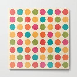Mid Century Color Dots Metal Print