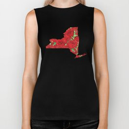 New York in Flowers Biker Tank