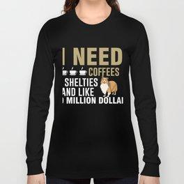Funny Gift Ideas For Sheltie Dog Lover. Long Sleeve T-shirt