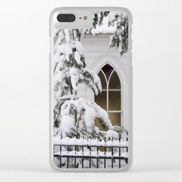 Pray for Snow Clear iPhone Case