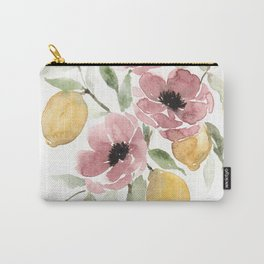 Watercolor-poppies-and-lemons Carry-All Pouch