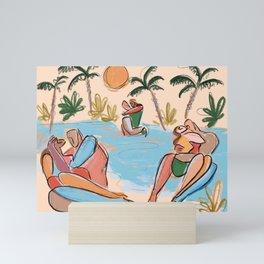 Summer kisses Mini Art Print