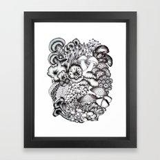 A Medley of Mushrooms Framed Art Print