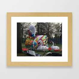 Remains of Lantern Festival Framed Art Print